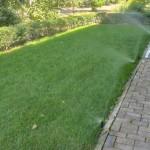 Автоматический полив газона у жилого дома