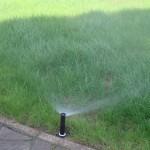 автоматический полив газона спрейного типа