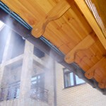 Фото система водяного тумана в действии работа