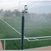 Rain gun SR-3003 орошает футбольное поле