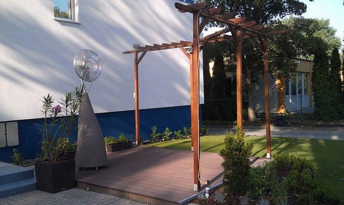 Автономный вентилятор i-Cooler во дворе