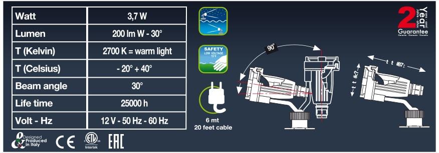 Технические характеристики Sicce Halley LED