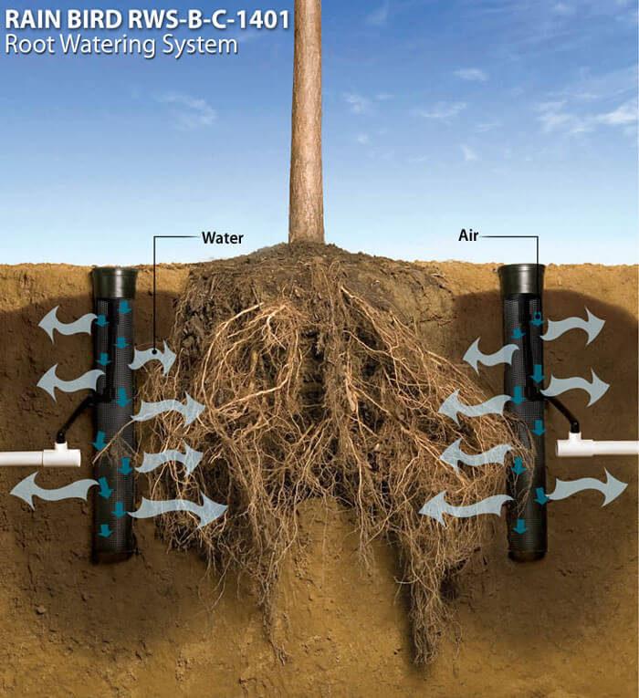 Принцип работы устройства корневого полива
