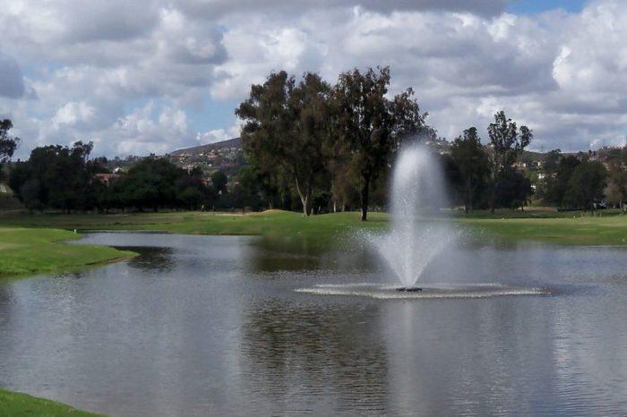 Аэратор для водоема в парке Phoenix от компании Otterbine
