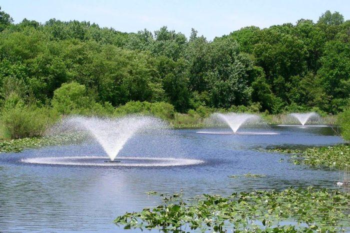 Аэрационные фонтаны Sunburst от компании Otterbine