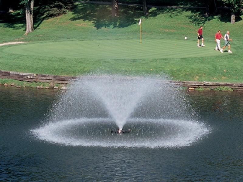 Аэрационные фонтан Sunburst для прудов гольф полей от компании Otterbine