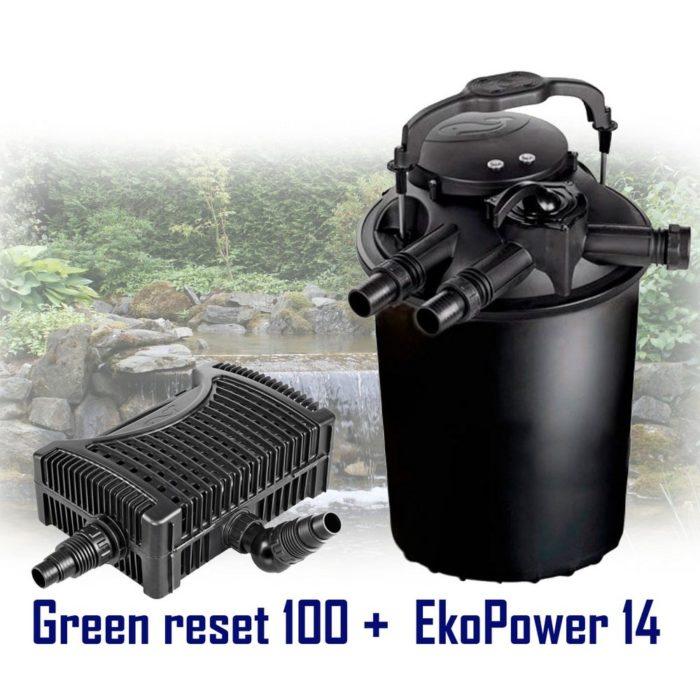 комплект насос Sicce Eko Power 14 + фильтр Sicce Green Reset 100
