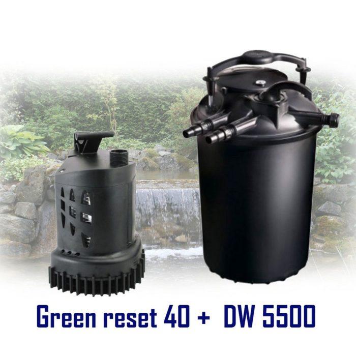 комплект насос Sicce DW 5500 + фильтр Sicce Green Reset 40